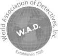 Logo WAD World Association of Detectives i.n.c.